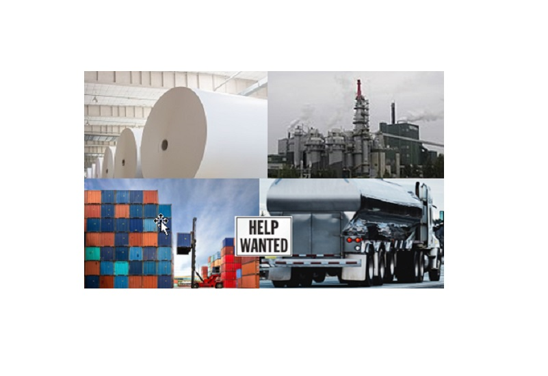 paper rolls, industrial, shipping containers, tuck, help wanted